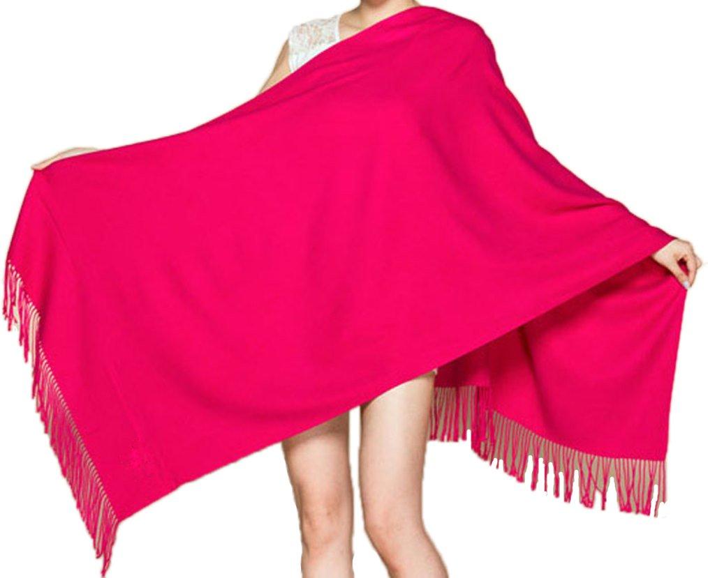 MARUYAMA Cashmere Stole, Scarf, Shawl, Wrap, 100% Cashmere, Gorgeous and Natural, Model K0101, Rose , Large