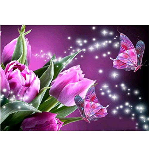 SCASTOE Flowers and butterflies 5D Full Diamond Painting Embroidery DIY Craft Home Decor