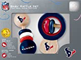 MasterPieces NFL Houston Texans Natural Wood, Non-Toxic, BPA, Phthalates, & Formaldehyde Free, Baby Rattle Set, 2 Pieces