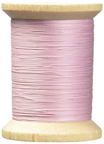 YLI 21104-016 3-Ply T-40 Cotton Hand Quilting Thread, 400 yd, Light Pink