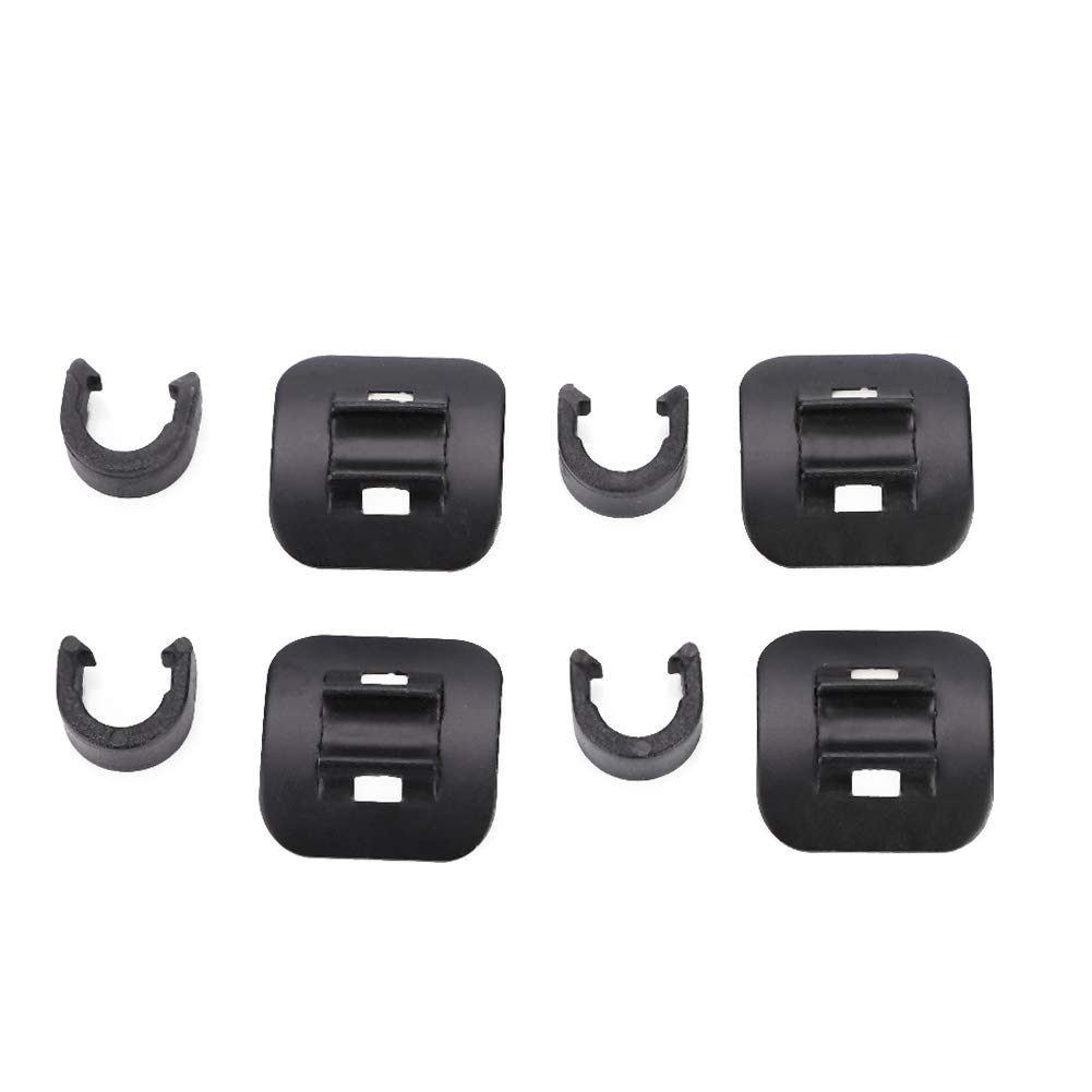 Mountain Bike Brake Cable Tube Guide Shifter Adapter Bicycle Frame C Buckle Keenso 4 Pcs Brake Cable Guide