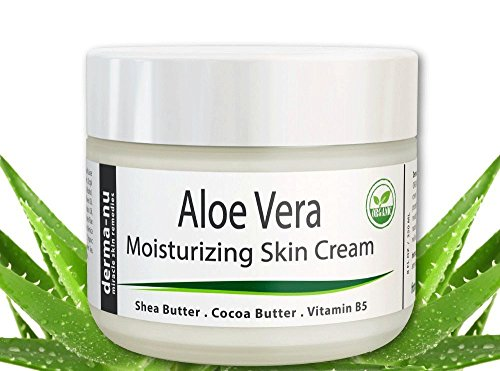 Aloe Vera Dry Skin Cream - Best Remedy Skin Repair Cream by Derma-nu - Organic Treatment for Face & Body - Treatment for Psoriasis and Eczema Therapy - Non-greasy and Fast Absorbing - 4oz (Aloe Cream compare prices)