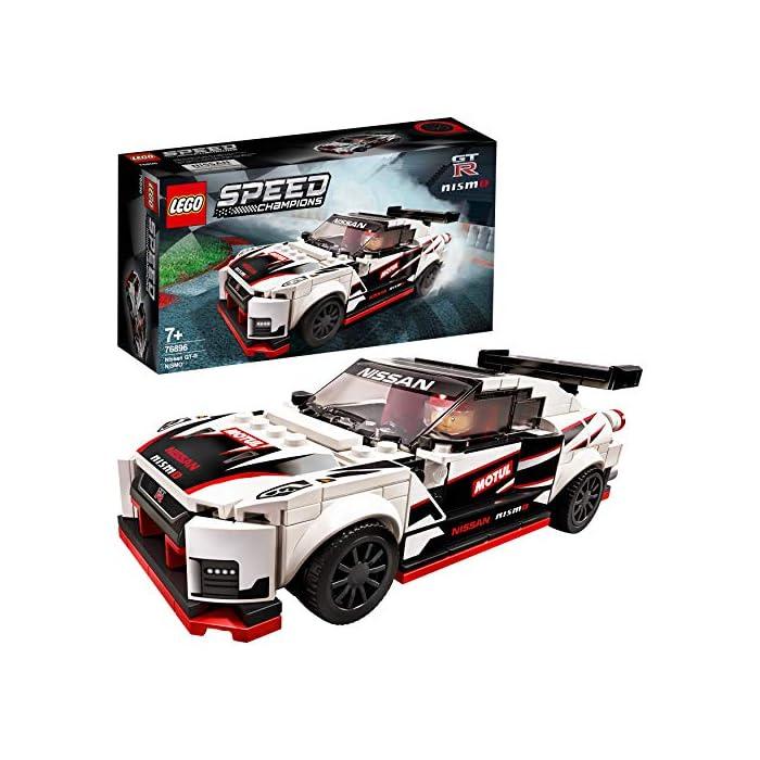 517PBemublL Una oportunidad única de poseer una réplica LEGO con detalles de gran realismo del legendario Nissan GT-R NISMO. Es el regalo perfecto para los apasionados de la construcción de juguetes, ¡y de conducirlos en veloces carreras! El Nissan GT-R NISMO en versión construible y 1 minifigura con mono de competición Nissan. Esta maqueta fascinará a niños y fans de los coches, y les abrirá las puertas tanto al juego independiente como a la posibilidad de organizar carreras con sus amigos. La miniversión del Nissan GT-R NISMO (novedad en enero de 2020) se puede construir y exponer, o usar para competir contra otros coches LEGO Speed Champions.