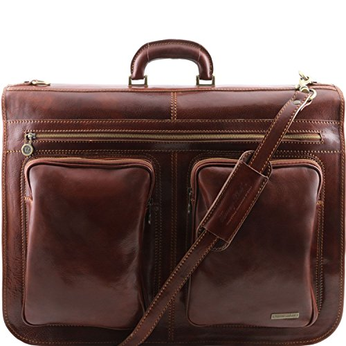Tuscany Leather Tahiti - Leather Garment Bag by Tuscany Leather