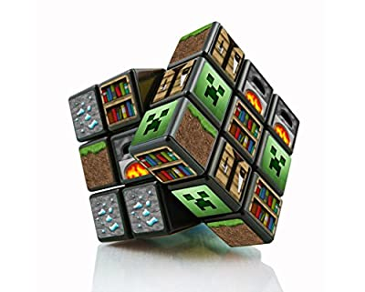 Minecraft Toys for kids Collectibles Merchandise, Game Blocks and Characters on Rubiks cube 3x3 game Personalized Pixel Design Best Educational Gift