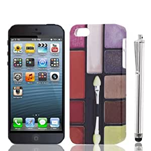 Water & Wood Eyeshadow Makeup IMD Back Case w Touch Screen Pen for iPhone 5 5G 5S
