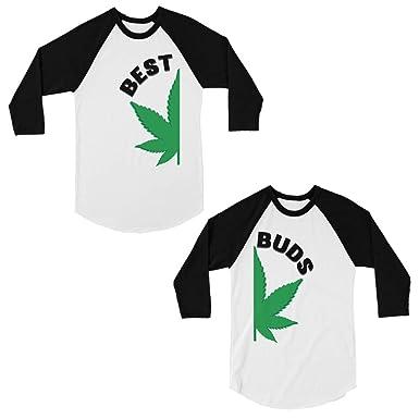 365 Printing Best Buds Camisas de béisbol para Parejas a ...