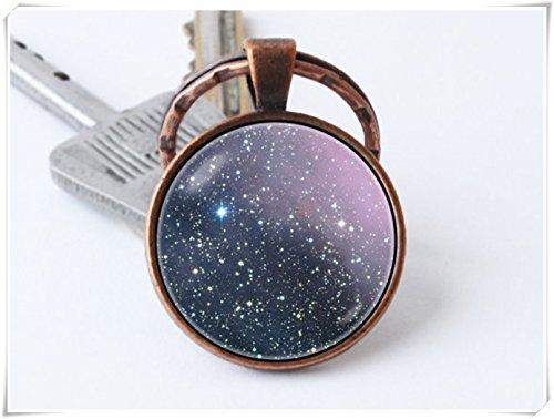 Nebula key chain, keyring,Nebula jewelry, pendant, Nebula key chain,
