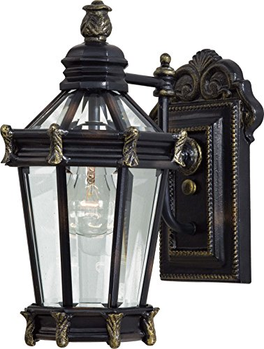 Minka Lavery Spanish Outdoor Wall Light 8937-95, Stratford Hall Exterior Wall Lantern, 100 Watts, Heritage ()