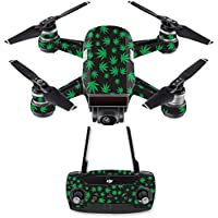 Skin for DJI Spark Mini Drone Combo - Marijuana| MightySkins Protective, Durable, and Unique Vinyl Decal wrap cover | Easy To Apply, Remove, and Change Styles | Made in the USA