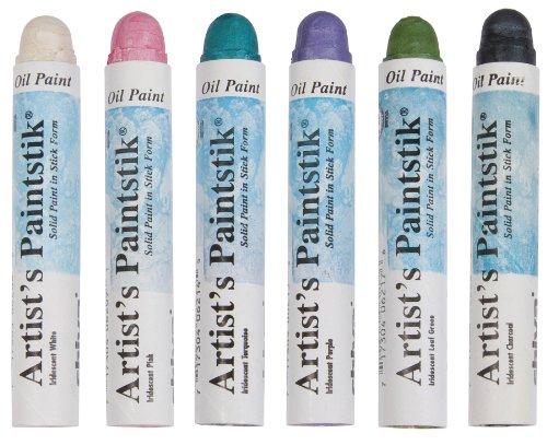 Jack Richeson Shiva Oil Paintstik, Iridescent Fashion Colors, Set of - Colors Oil Paintstik Artists