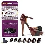 CLICKLESS High Heel Protectors - Heel Caps - 7 Pairs/7 Sizes (Dark Brown)