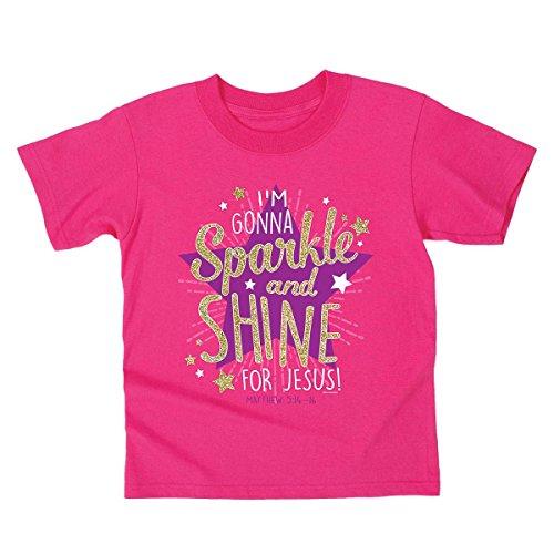 Kerusso Sparkle and Shine, Kidz Tee, SM, Heliconia - Christian Fashion (Jesus Youth Christian T-shirt)