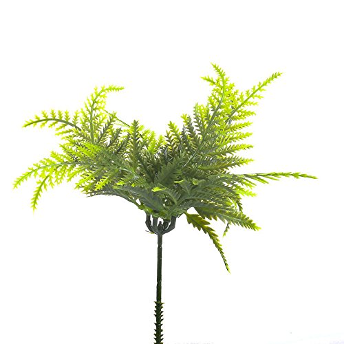 Factory Direct Craft Package of 6 Artificial Vinyl Forest Fern Picks for Floral Arranging, Crafting and ()
