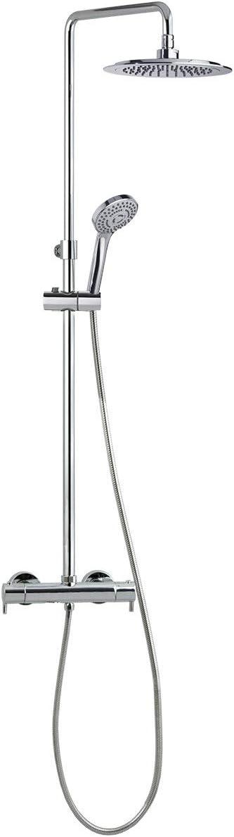 Grifería de ducha - Conjunto termostático gran ducha con columna ...