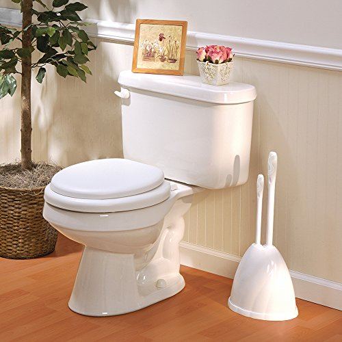 high-quality Hide-a-Plunger- Toilet Plunger and Brush with Hiding Caddy, White