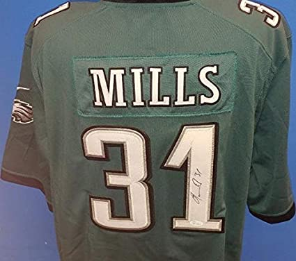 76015abec6c Jalen Mills Eagles Autographed Pro-Style Football Jersey - JSA  Authenticated at Amazon's Sports Collectibles Store