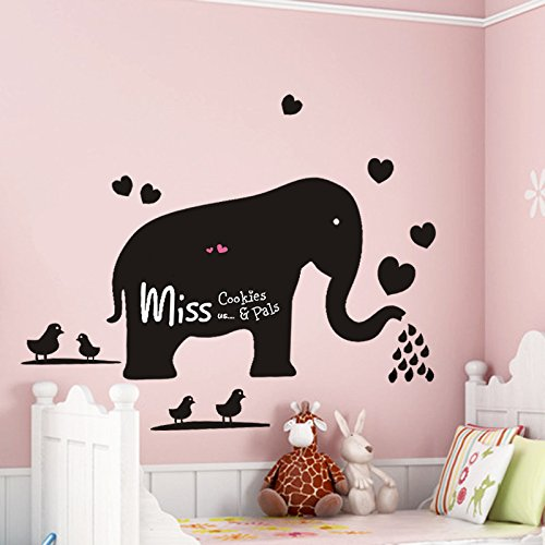 Wall Decal Blackboard Teach Sticker Big Elephant Removable Mural Wall