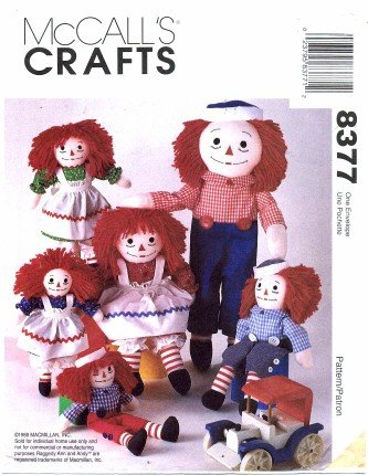 - McCall's 8377 Crafts Sewing Pattern Raggedy Ann & Andy Dolls & Clothes