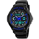 Image of Takyae Children Kid Watches LED Digital Quartz Watch Boy And Girl Student Multifunctional Waterproof Wristwatches S - Blue