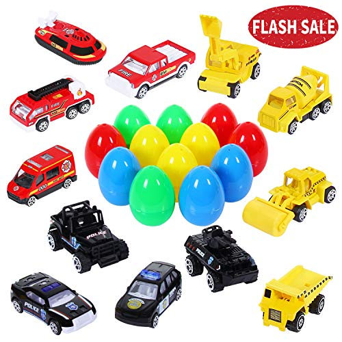 SGILE 12pcs Easter Egg Car, 3.5