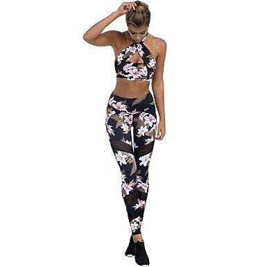 Yoga Hosen Damen,TWBB Mode drucken Skinny Hohe Taille Sport Gym Lauf ...