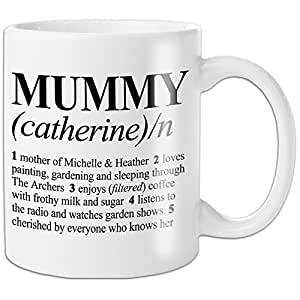 Dictionary Design Personalised Mummy Mug