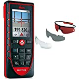 Leica Disto E7500i 500ft Laser Distance Measure with Bluetooth, Color Viewscreen, Red/Black (Bluetooth + Glasses)