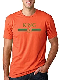 King | Lux Green Red Belt Stripe | Mens Fashion Tee Graphic T-Shirt