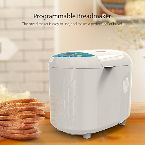 Homgeek Home Bakery Bread Machine 2.2 Pound with 19 Programmable Menus Setting and 15 Hours Preset,3 Crust Colors,White by Homgeek (Image #6)