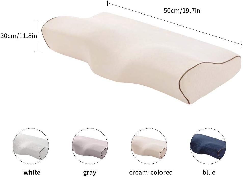 laamei Almohada de Espuma de Memoria C/ómoda con Forma de Mariposa Healthcare Almohada Ortop/édica para el Dolor de Cuello Almohadas para Dormir Cervical Ergon/ómica para Hombro