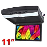 Genius GMPT11-07DV 11'' Car HD LED Flipdown Monitor with DVD Player/USB/SD and Speakers (Black)