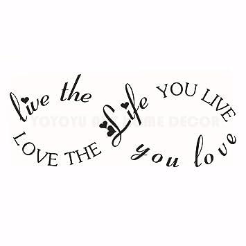 The Life Quote Tatuajes de Pared Romántico Hogar Dormitorio ...
