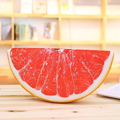 Yancyong Simulación 3D De Frutas Sandía Cojín De Respaldo ...