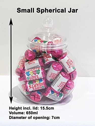 8 x Tall Style Victorien Rétro Sweet bocaux avec couvercles CANDY Panier//Sweet table fête