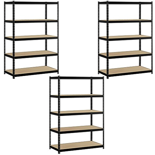Heavy Duty Garage Shelf Steel Metal Storage 5 Level Adjustable Shelves Unit 72
