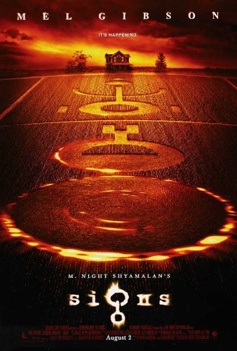 [Signs Movie Poster (27 x 40 Inches - 69cm x 102cm) (2002) Style C -(Mel Gibson)(Joaquin Rafael (Leaf) Phoenix)(Rory Culkin)(Abigail Breslin)(Cherry Jones)(Patricia] (Best Sci Fi Fantasy Costumes)