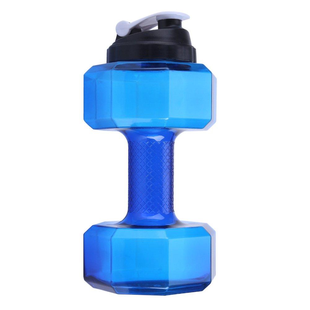 Fdit Sport a forma de mancuernas de grande capacidad botella de agua deportiva fitness Gym Training Copa Tapa a Prueba de Fugas 5 colores: Amazon.es: Hogar