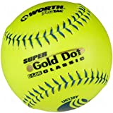 Worth 12'' USSSA Gold Dot Classic Slowpitch Softballs (Dozen)