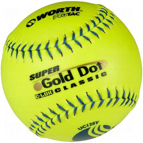 Worth 12'' USSSA Gold Dot Classic Slowpitch Softballs (Dozen) by Worth