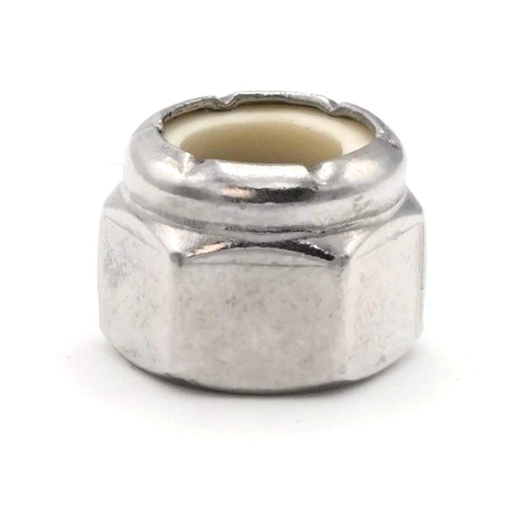 Qty-100 .439 Flats x .225 Height #12//28 Nylon Lock Nut Nylock 18-8 Stainless Steel