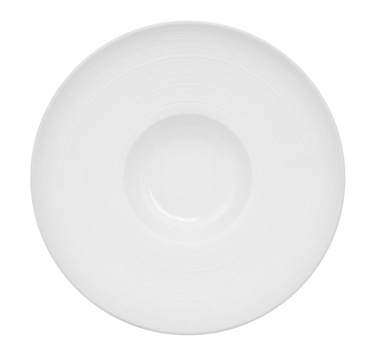 CAC China TST-H8 Transitions 8-Inch 5-Ounce Non-Glare Glaze Super White Porcelain Hat Shape Gourmet Bowl, Box of 24