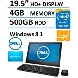 Dell 19.5 HD+ Display Touchscreen All In One Desktop Computer (Intel Pentium up to 2.58GHz Processor), 4GB DDR3 RAM, 500GB HDD, HDMI, RJ45, WIFI, Bluetooth, Windows 8.1 (Certified Refurbished)