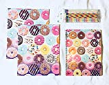 School Supplies- Donut Paper Folders with Donut Noitebook Plus 10pk. Pencils