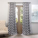 Cheap HPD Half Price Drapes BOCH-KC37-120-GR Grommet Blackout Curtain, 50 x 120, Fez Grey & Tan