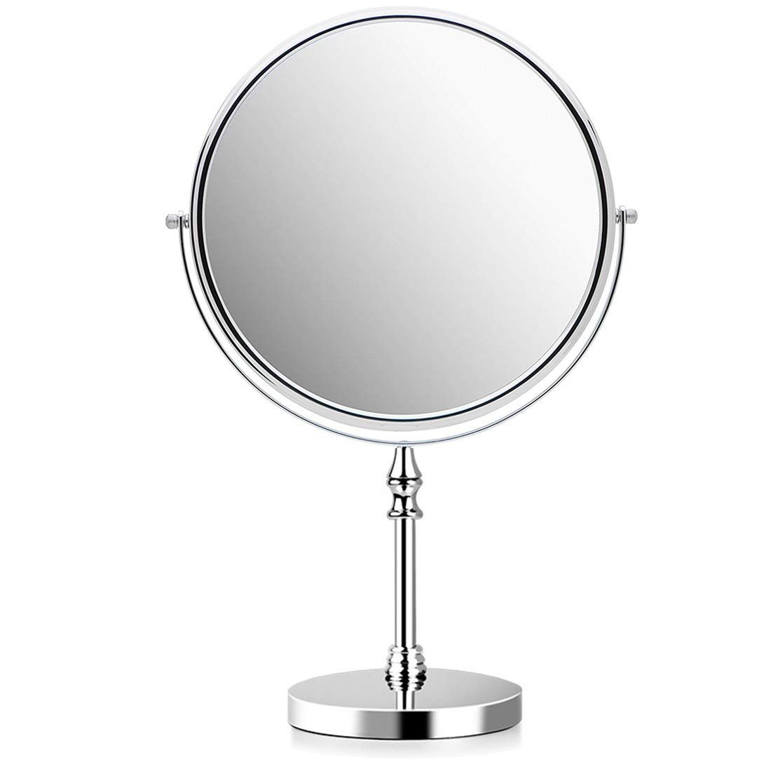8 Inch Makeup Mirror 10X Magnifying Bathroom Mirrors 360 Dregree Free Standing,Dual Sided Vanity Mirror for Makeup Shaving,Round