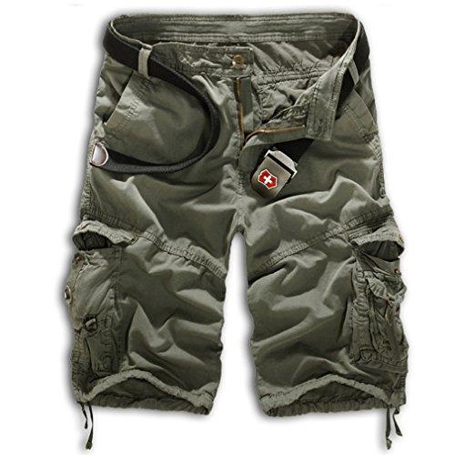 TM Hot new casual camouflage cargo shorts multi-pocket trousers large size men