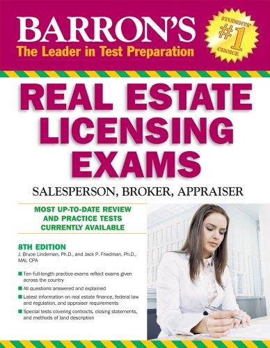 Barron's Real Estate Licensing Exams: Salesperson, Broker, Appraiser