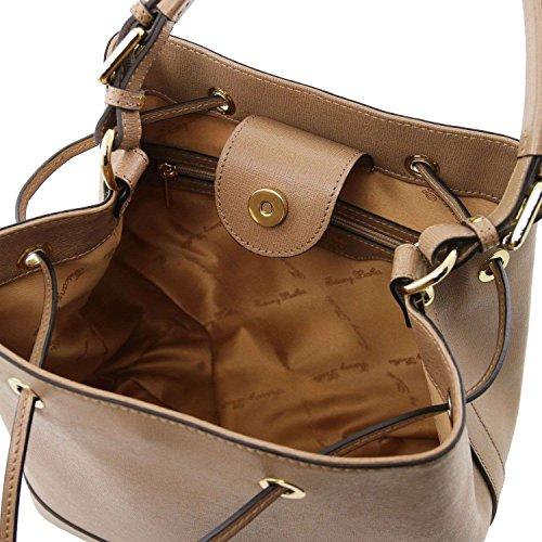 TUSCANY LEATHER - Bolso de asas de Piel para mujer marrón marrón Taille Unique