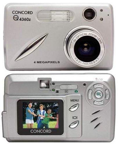 Concord EyeQ 4360z 4MP Digital Camera with 3x Optical Zoom Concord Camera Eye Q Digital Cameras
